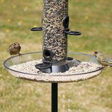 Extra wide Feeder Seed Tray.